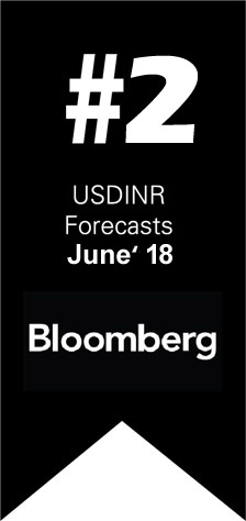 Ranked #2 worldwide by Bloomberg for USDINR Forecast